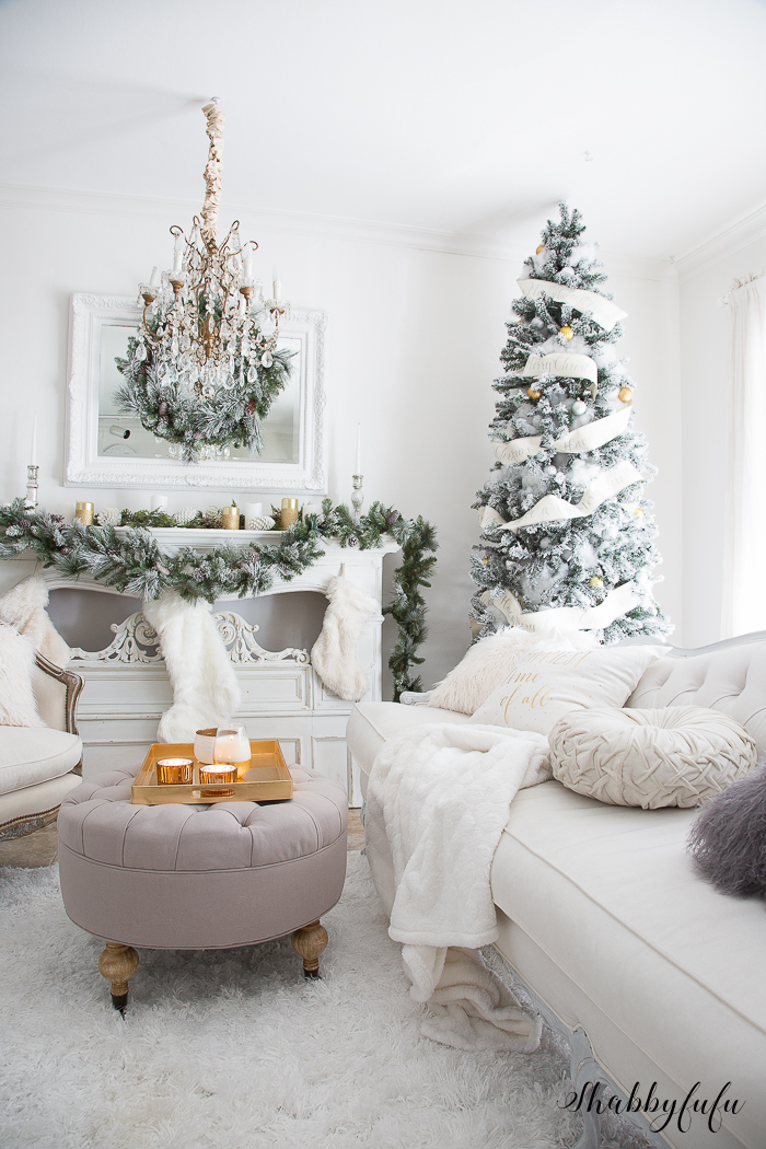 simple home decor ideas living room decorated the most elegant & glamorous white christmas
