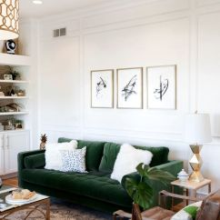 Green Sofa Living Room Ideas Pictures Of Interior Designs 30 Lush Velvet Sofas In Cozy Rooms With White Fur Pillows And Brown Leather