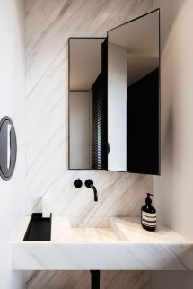 Perfect Marble Bathrooms With Black Fixtures