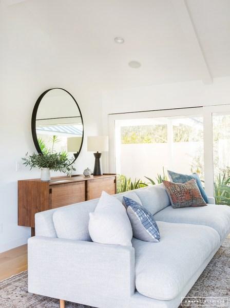 minimalist living room interior A Minimalist Mid-Century Home Tour