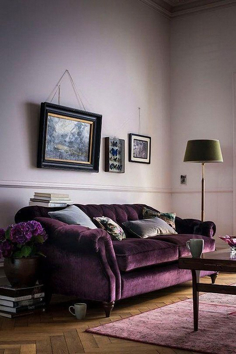 purple living room furniture sofas paint colors for and dining 12 royally velvet the