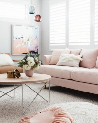 16 Chic Blush Pink Sofas & How to Style Them!