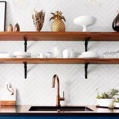 Green Kitchen Backsplash Designer 10 Lovely Kitchens With Open Shelving