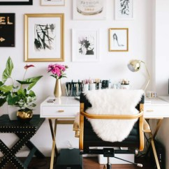 Desk Chair Home Office Stainless Steel Chairs 12 Perfect For The Girlboss In You Brass Gold And Black At Via Jen Kay Everygirl