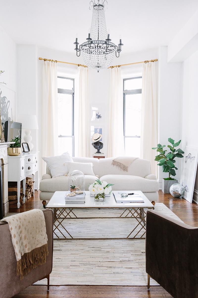 White Parisian Inspired Living Rooms
