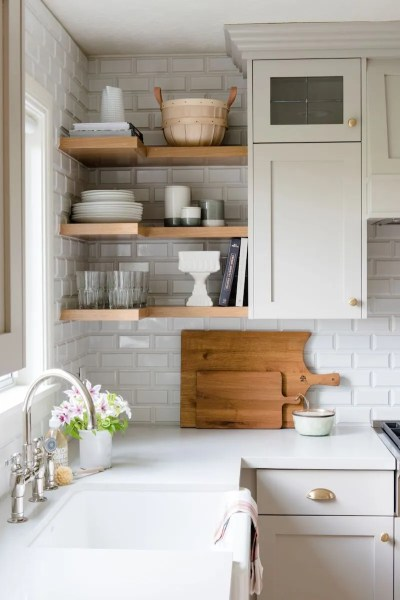 open shelving kitchen 10 Lovely Kitchens With Open Shelving