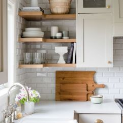 Kitchen Open Shelves Cabinet Photos 10 Lovely Kitchens With Shelving Neutral Natural Wood Via Studiomcgee