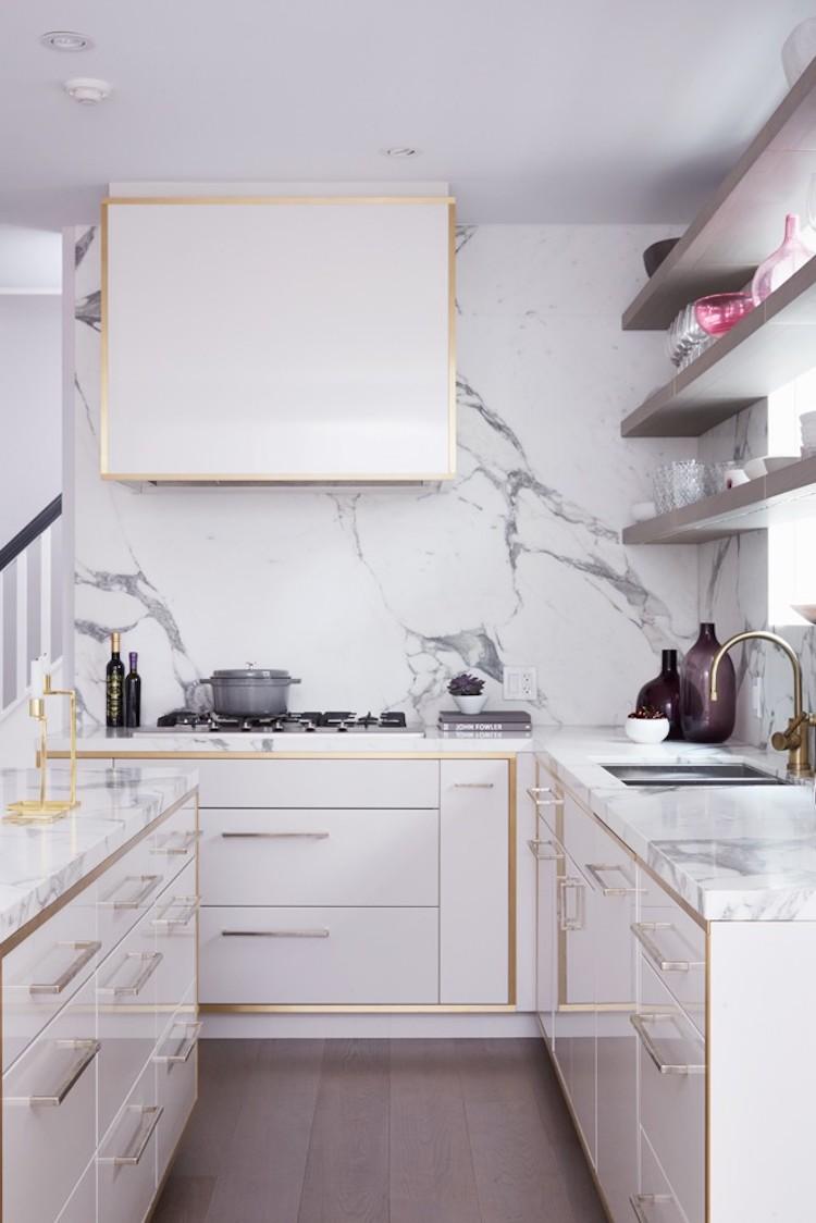 14 White Marble Kitchen Backsplash Ideas Youll Love