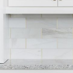 Kitchen Hardware Pulls Red Cabinets 14 White Marble Backsplash Ideas You'll Love