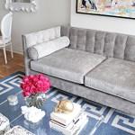 12 Gray Velvet Sofas For The Living Room You Ll Love