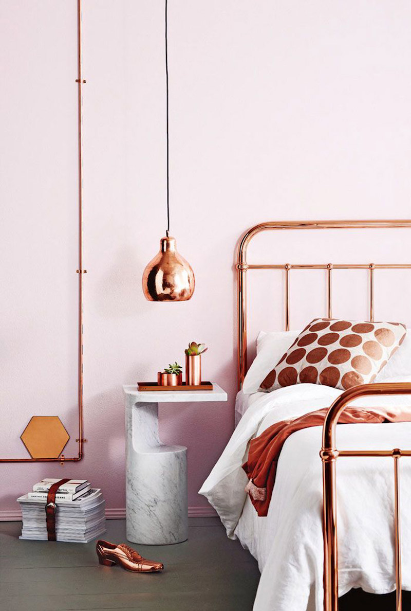 14 Eye Catching Blush Pink Amp Copper Home Decor Ideas