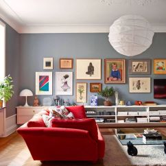 Red Couch Living Room Photos Pendant Chandelier 12 Fabulous Sofas For Your Sofa Ideas Herringbone Wood Flooring Gallery Wall Via West Elm