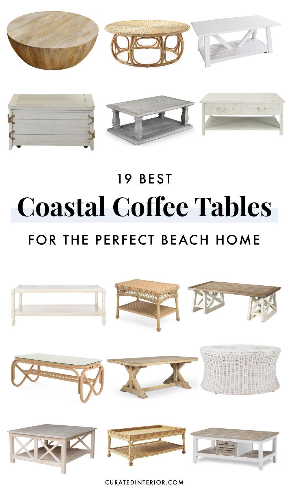 19 coastal coffee tables for your beach