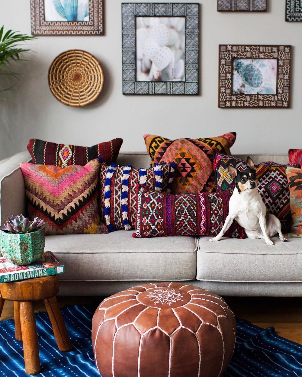 25 bohemian throw pillows in eclectic