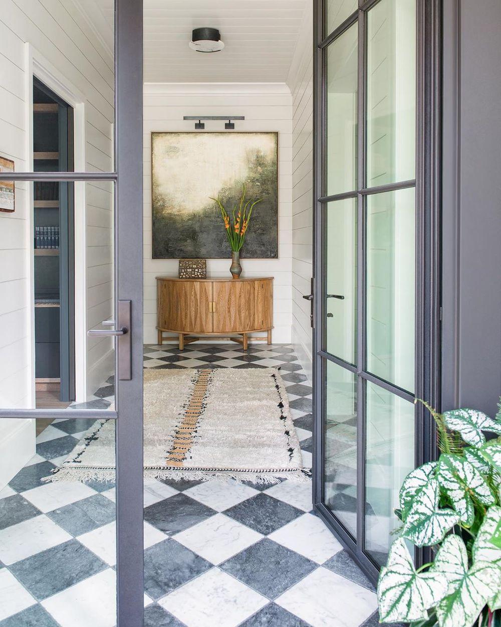 and white checkered floors decor ideas