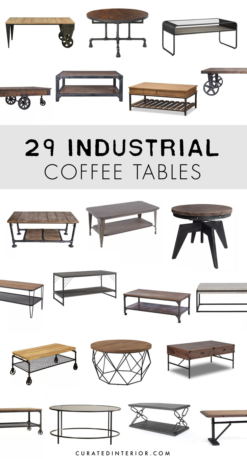 29 industrial coffee tables for the