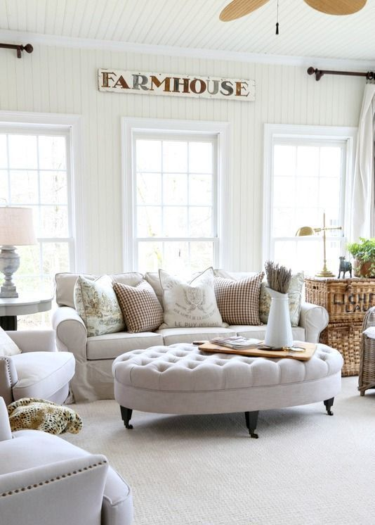 29 best modern farmhouse ottomans for