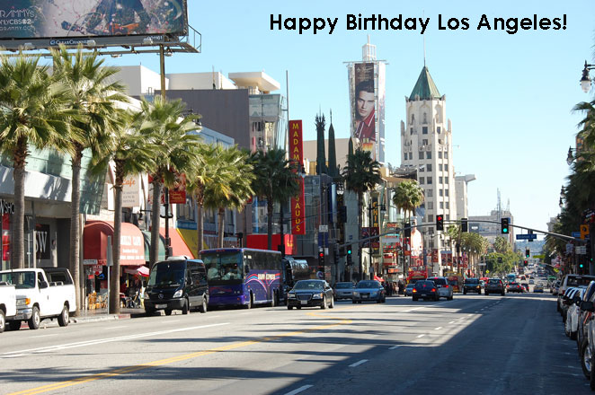 Wishing Los Angeles a Very Happy Birthday