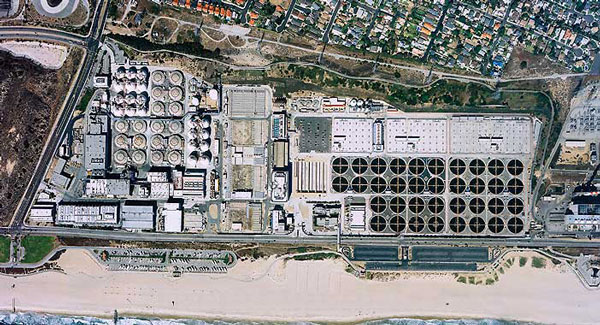 Hyperion Treatment Plant - aerial view