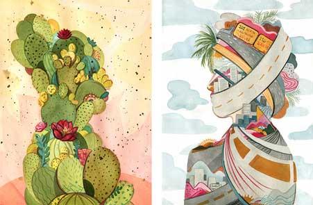 Cacti-Land Traffic Jam by Vivian Shih