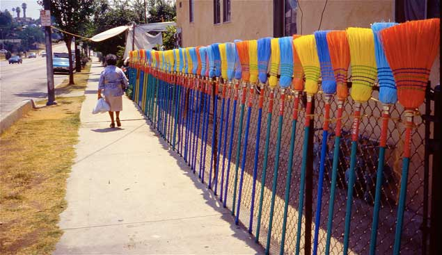 Broom fence