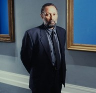 Stuart Hall on the set of Isaac Julien's The Attendant