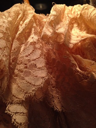 Detail of lace parasol, on display at the Art Gallery of South Australia