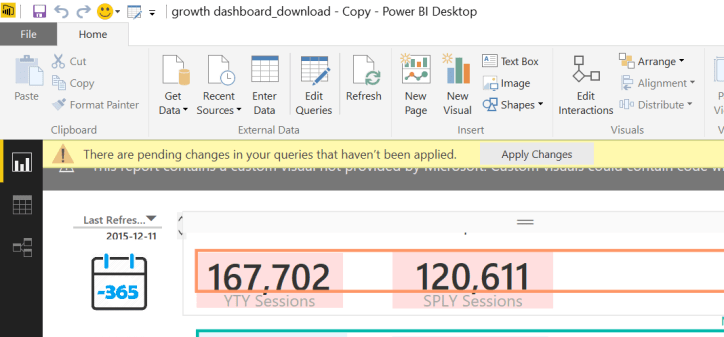 error message power bi