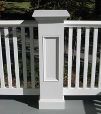 Exterior Pvc. Exterior Porch Pvc Railings. X Pvc Trim