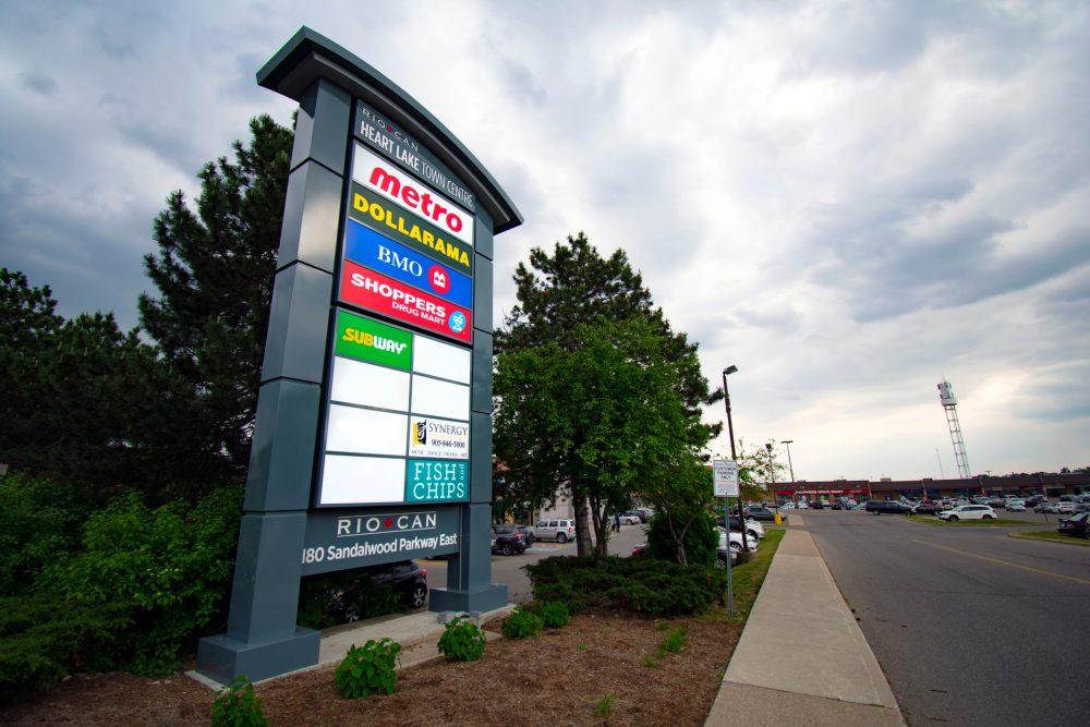 Pylon Sign at Heart Lake TownCentre