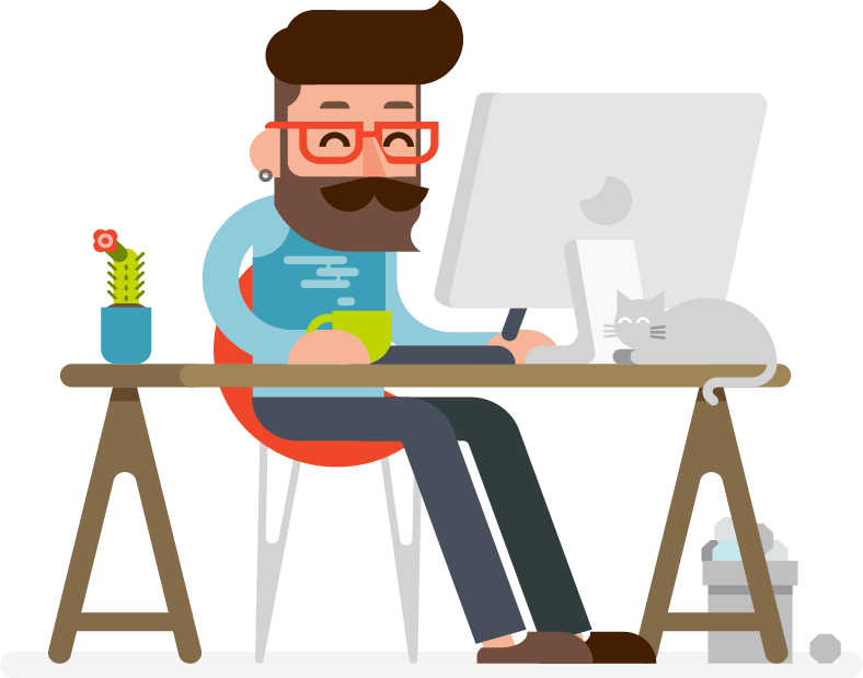 Illustration of a graphic designer
