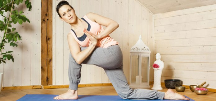 30-min Yoga for Before Bed: Energize then Relax w Music.