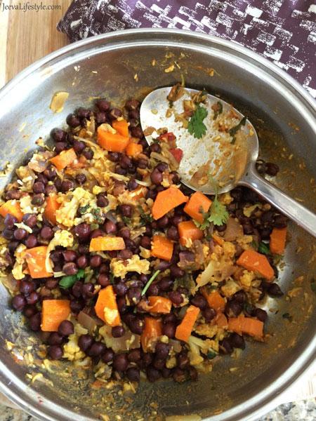 Black Chana Curry Ingredients.