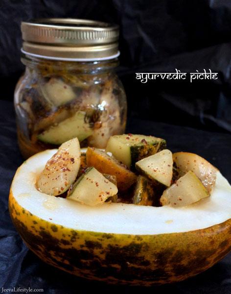 Ayurvedic Sauerkraut (Homemade Pickled Cucumber).