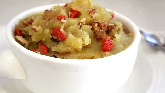 Sweet Potato Mash with Goji Berries