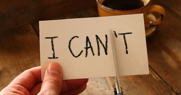 Overcoming I Can't