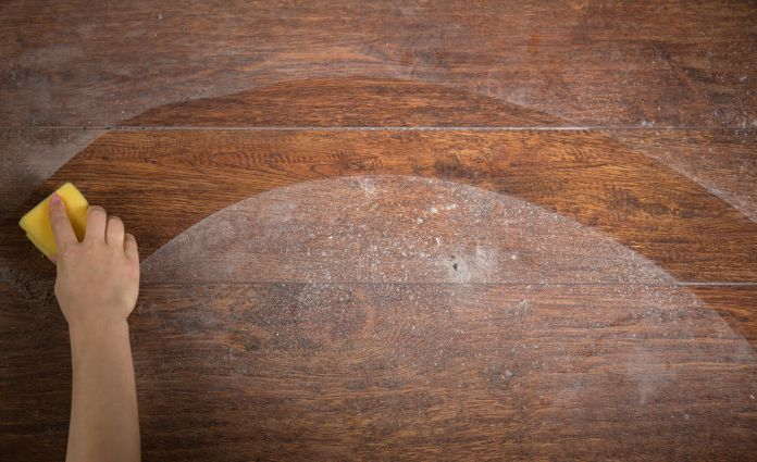 rice water can be reused to clean floors, wooden tables