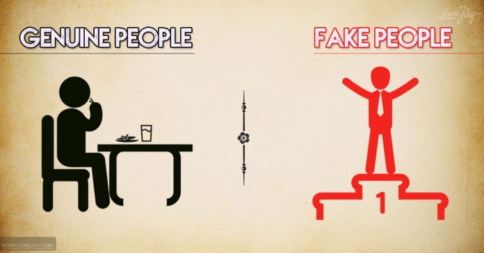 Differences Between Genuine And Fake People