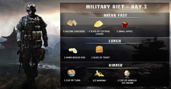 Day 3 of 3 day military diet plan
