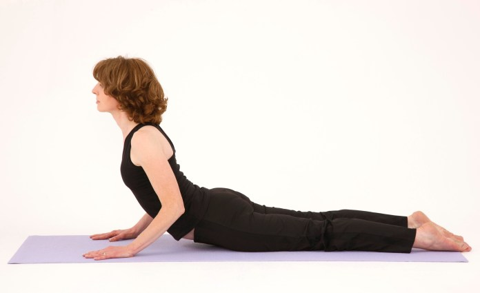 press up's to ease lower back ache