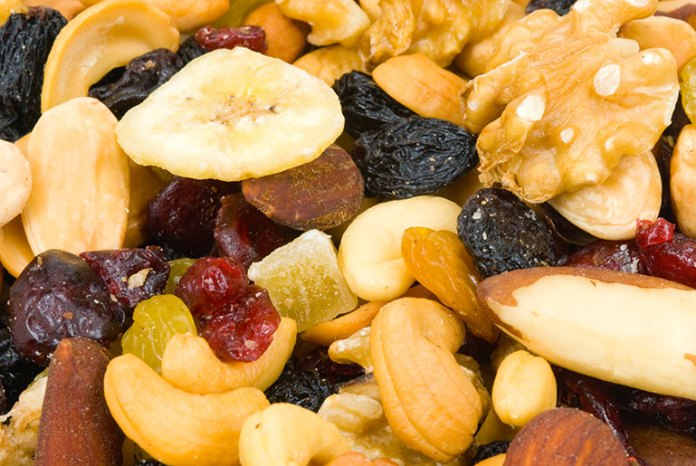 Snack on high-fiber and low-calorie foods.