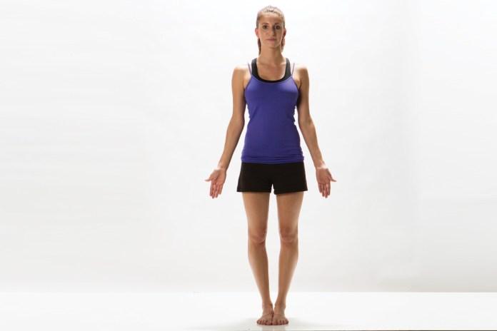 practice tadasana for better posture