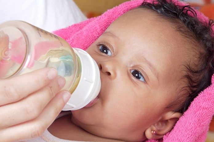 Baby drinking: How Can You Help A Baby With A Cold