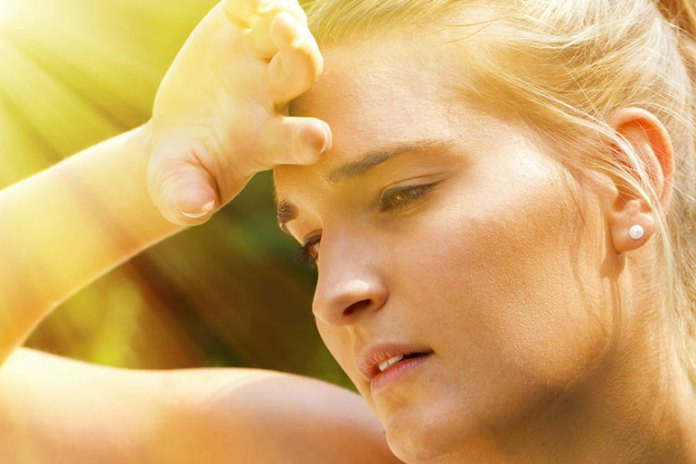 heat can cause temporary expansion of blood vessels and swelling