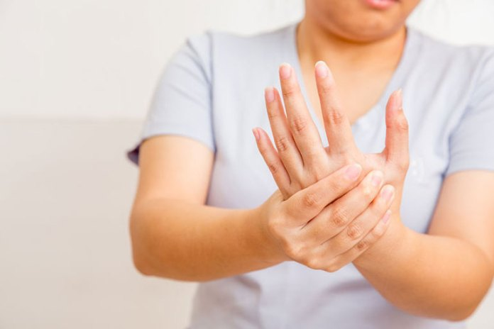 Arthritis leads to swelling in joints and knuckles