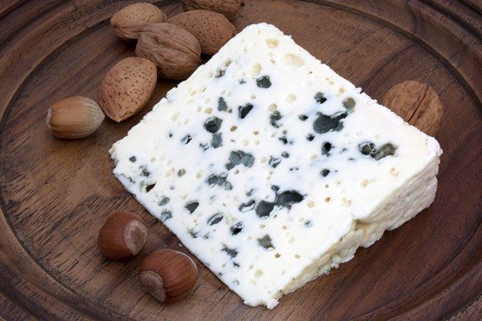 Pregnant women should always skip Roquefort, a soft blue-veined cheese