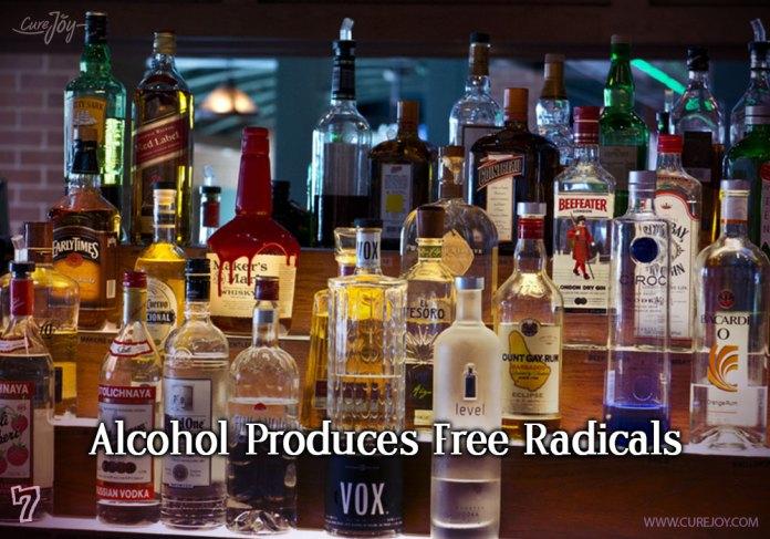 7-alcohol-produces-free-radicals