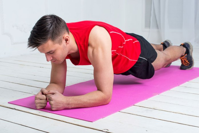Plank With Shoulder Touches