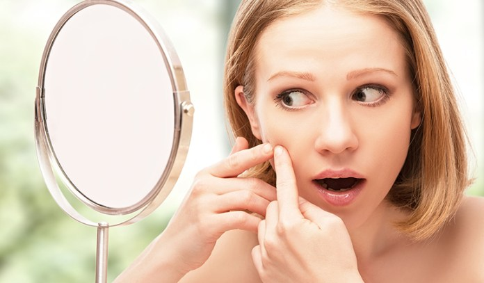 wearing makeup bad for skin acne breakouts