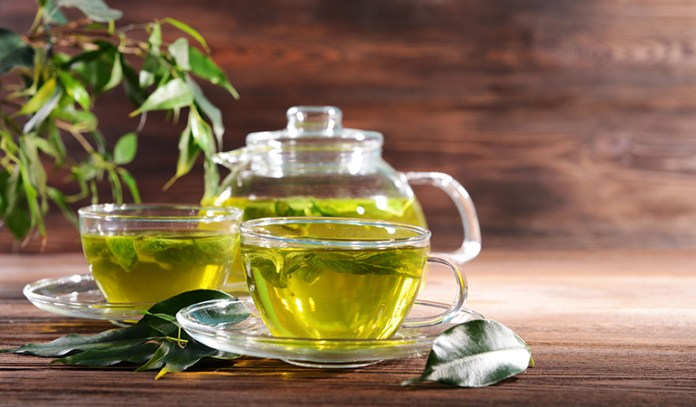 Green tea for double chin elimination